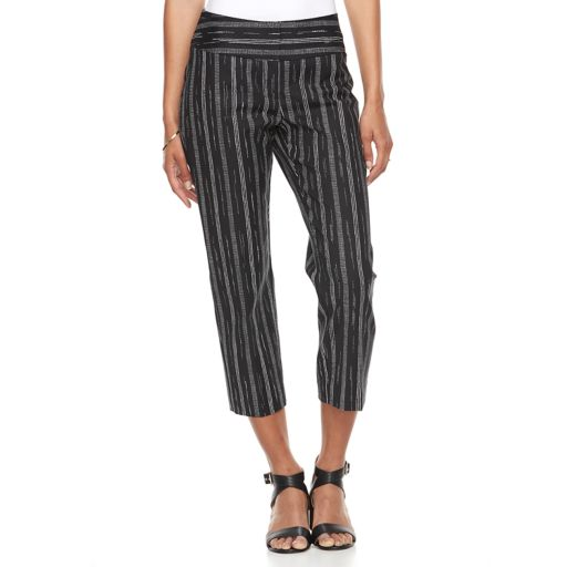 Women's Apt. 9® Tori Striped Capri Dress Pants