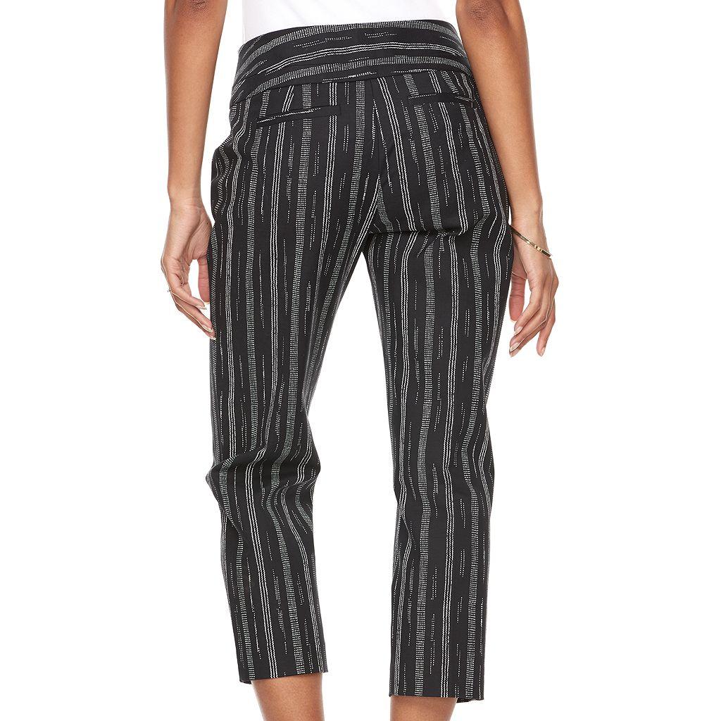 Women's Apt. 9® Tori Striped Capri Dress Pants