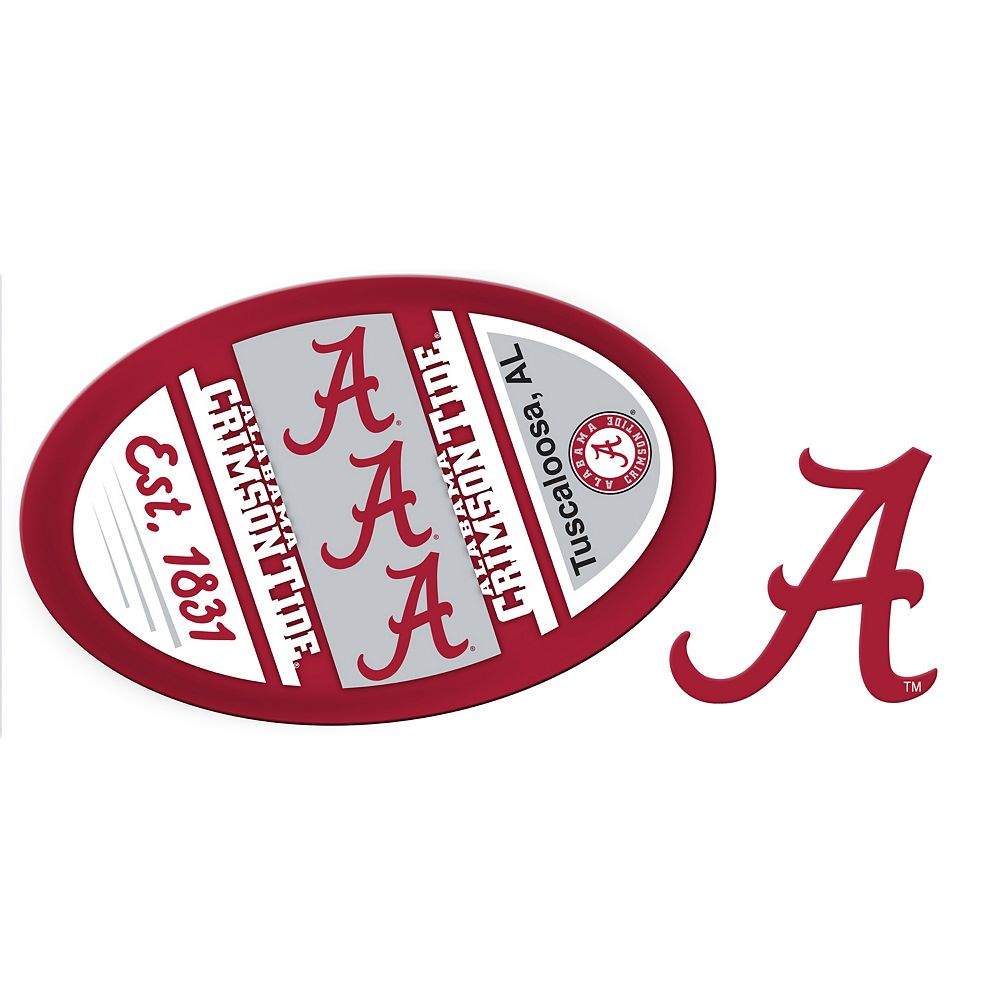 Alabama Crimson Tide Jumbo Tailgate & Mascot Peel & Stick Decal Set