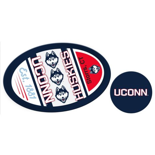 UConn Huskies Jumbo Tailgate & Mascot Peel & Stick Decal Set