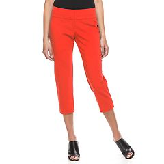 Womens Red Crops & Capris - Bottoms, Clothing | Kohl's