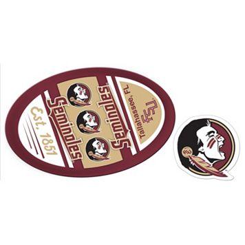 Florida State Seminoles Jumbo Tailgate & Mascot Peel & Stick Decal Set