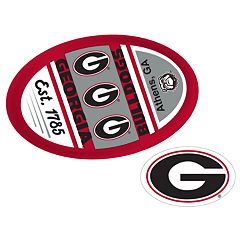Georgia Bulldogs Jumbo Tailgate & Mascot Peel & Stick Decal Set