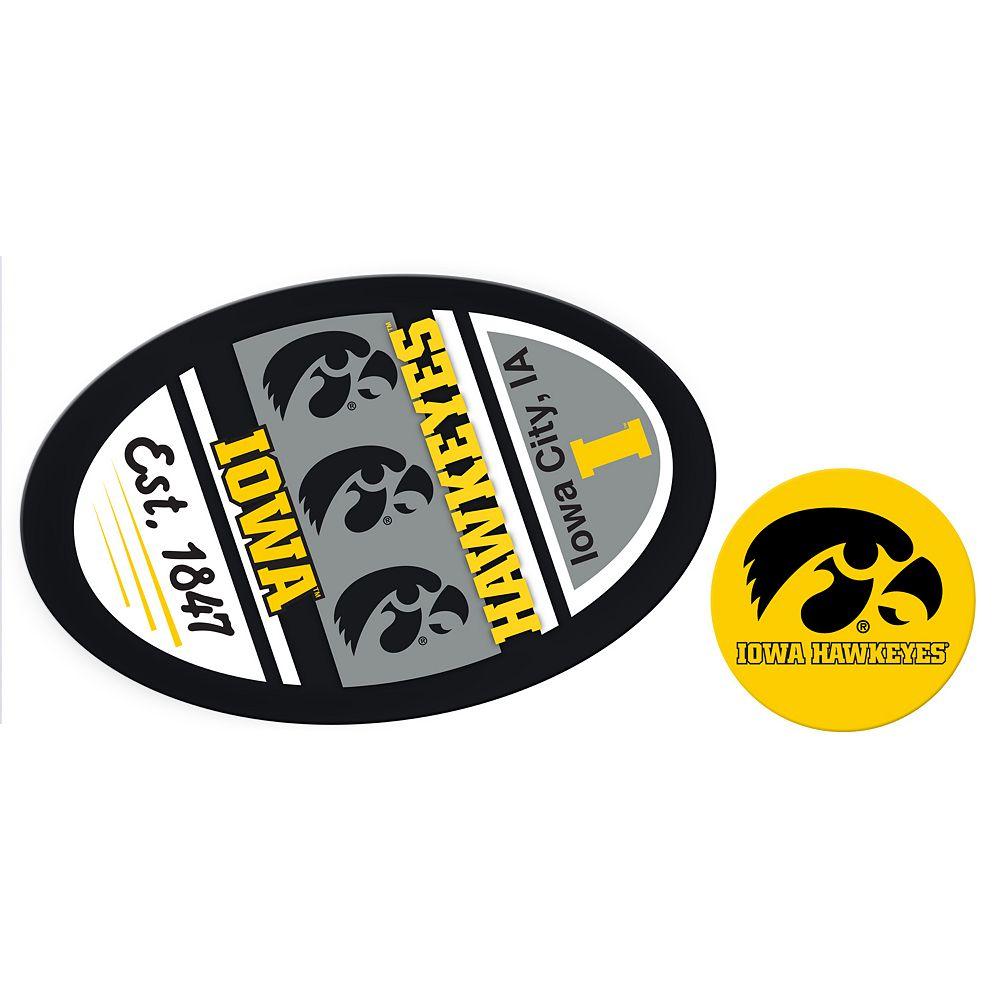 Iowa Hawkeyes Jumbo Tailgate & Mascot Peel & Stick Decal Set