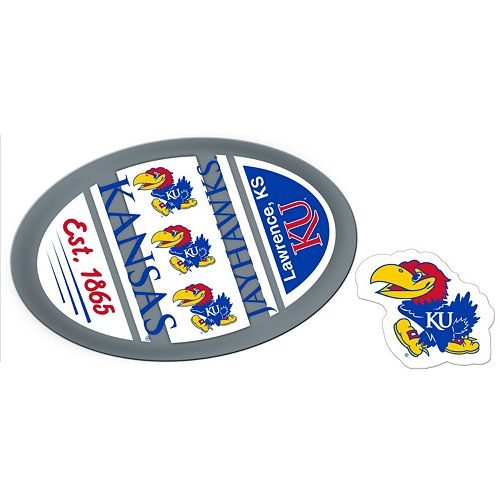 Kansas Jayhawks Jumbo Tailgate & Mascot Peel & Stick Decal Set