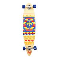 Quest Tribal 40-Inch Pin-Kicktail Longboard
