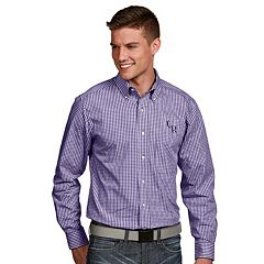 Men's Antigua Colorado Rockies Associate Plaid Button-Down Shirt
