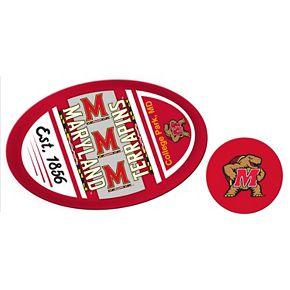 Maryland Terrapins Jumbo Tailgate & Mascot Peel & Stick Decal Set