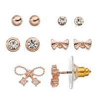 LC Lauren Conrad Bow Stud Earring Set