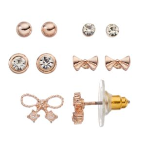 LC Lauren Conrad Bow Stud Earring Set