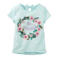 Girls 4-8 OshKosh B'gosh® 'Be Happy' Glitter Graphic Tee