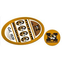 Missouri Tigers Jumbo Tailgate & Mascot Peel & Stick Decal Set