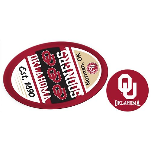 Oklahoma Sooners Jumbo Tailgate & Mascot Peel & Stick Decal Set