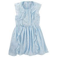 Girls 4-8 OshKosh B'gosh® Glitter Polka-Dot Chiffon Ruffle Dress