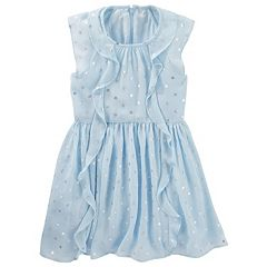 Girls 4-8 OshKosh B'gosh® Glitter Polka-Dot Chiffon Ruffle Dress