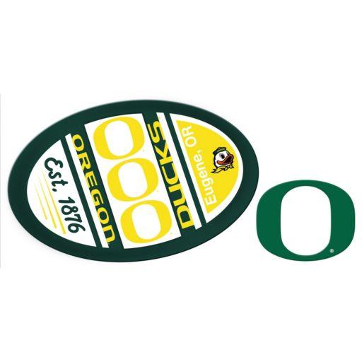 Oregon Ducks Jumbo Tailgate & Mascot Peel & Stick Decal Set