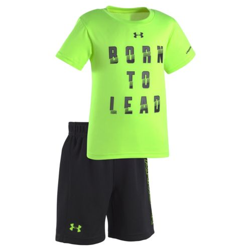 """Toddler Boy Under Armour """"Born To Lead"""" Tee & Shorts Set"""