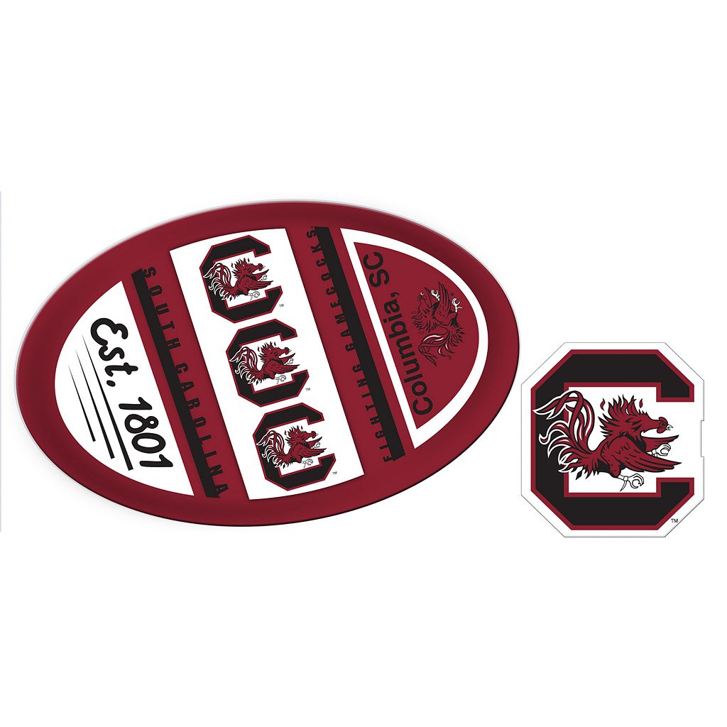 South Carolina Gamecocks Jumbo Tailgate & Mascot Peel & Stick Decal Set