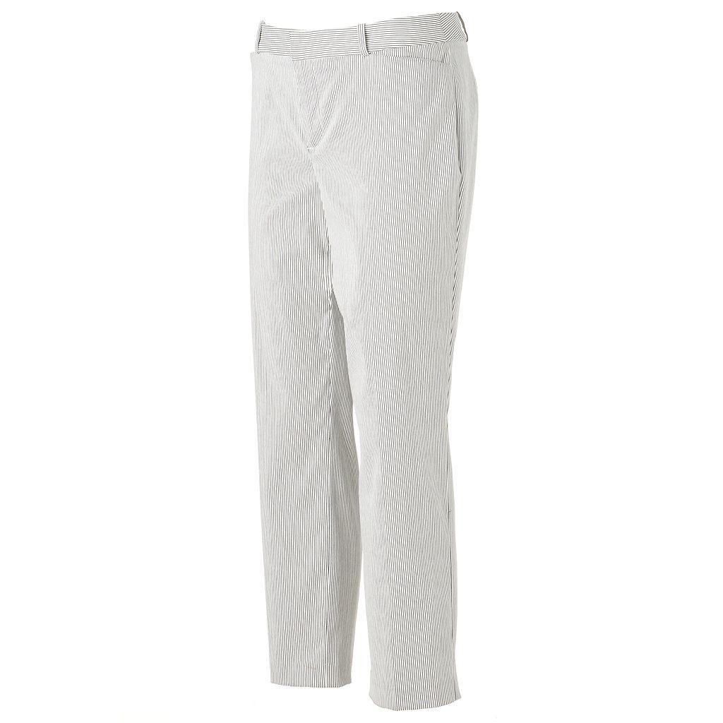 Women's ELLE™ Pinstripe Grid Skinny Ankle Pants