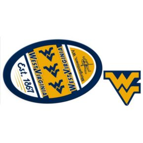 West Virginia Mountaineers Jumbo Tailgate & Mascot Peel & Stick Decal Set