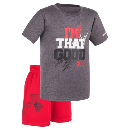"Toddler Boy Under Armour ""I'm That Good"" Tee & Shorts Set"