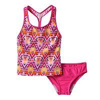 Girls 7-16 Speedo Diamond Geometric Tankini Swimsuit Set