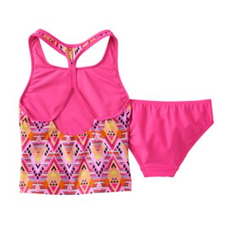 Girls 7-16 Speedo Diamond Geometric Tankini Swimsuit Set