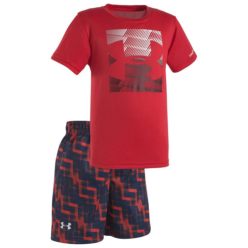 Toddler Boy Under Armour Boxed Logo Tee & Shorts Set