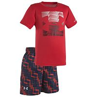 Toddler Boy Under Armour Boxed Logo Tee & Shorts Set