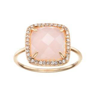 LC Lauren Conrad Pink Stone Halo Ring