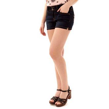 Juniors' Wallflower Insta Soft Jean Shortie Shorts