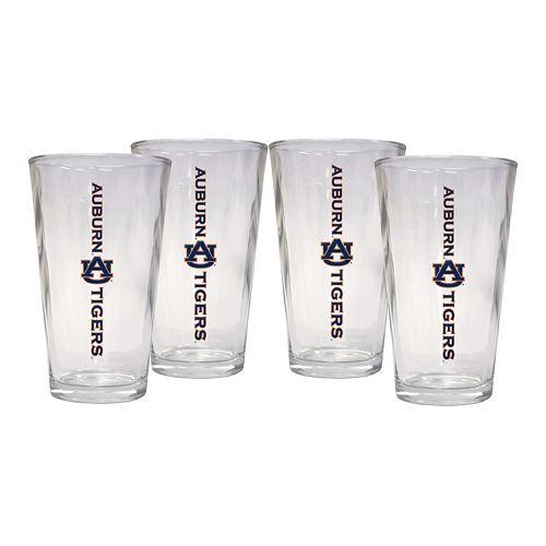 Auburn Tigers 4-Piece Pint Glass Set