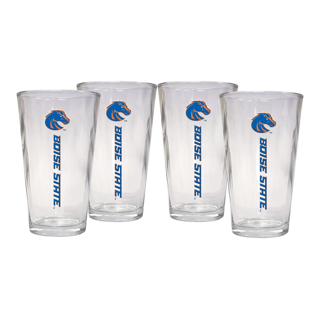 Boise State Broncos 4-Piece Pint Glass Set