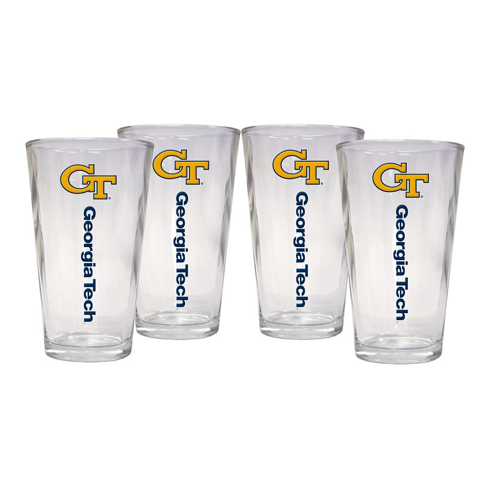 Georgia Tech Yellow Jackets 4-Piece Pint Glass Set