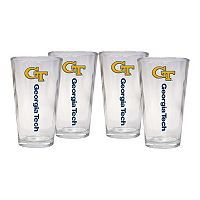 Georgia Tech Yellow Jackets 4 pc Pint Glass Set