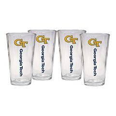 Georgia Tech Yellow Jackets 4-Piece Pint Glass Set