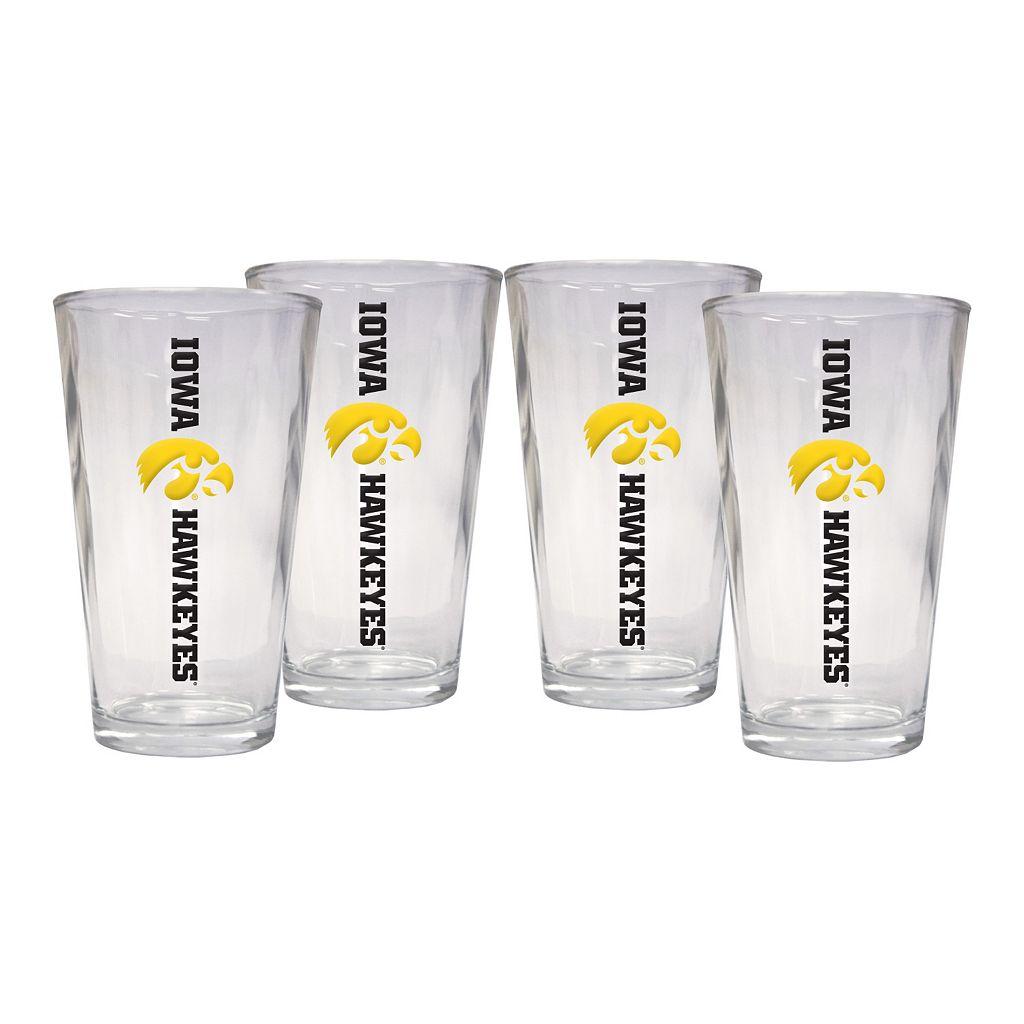 Iowa Hawkeyes 4-Piece Pint Glass Set