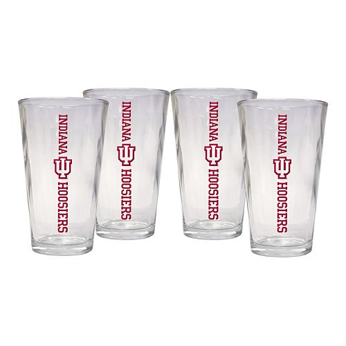 Indiana Hoosiers 4-Piece Pint Glass Set