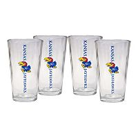 Kansas Jayhawks 4-Piece Pint Glass Set