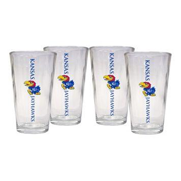 Kansas Jayhawks 4-Piece Pint Glass Set