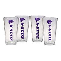 Kansas State Wildcats 4 pc Pint Glass Set