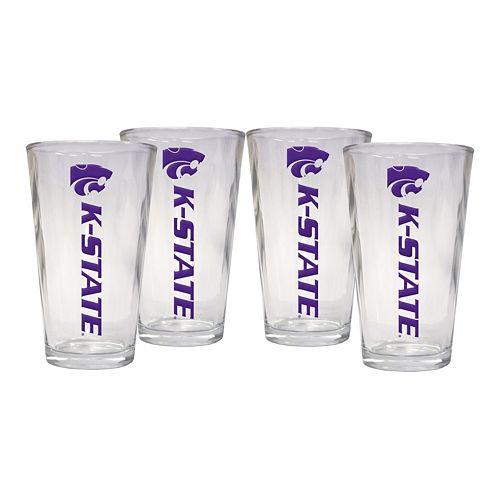 Kansas State Wildcats 4-Piece Pint Glass Set
