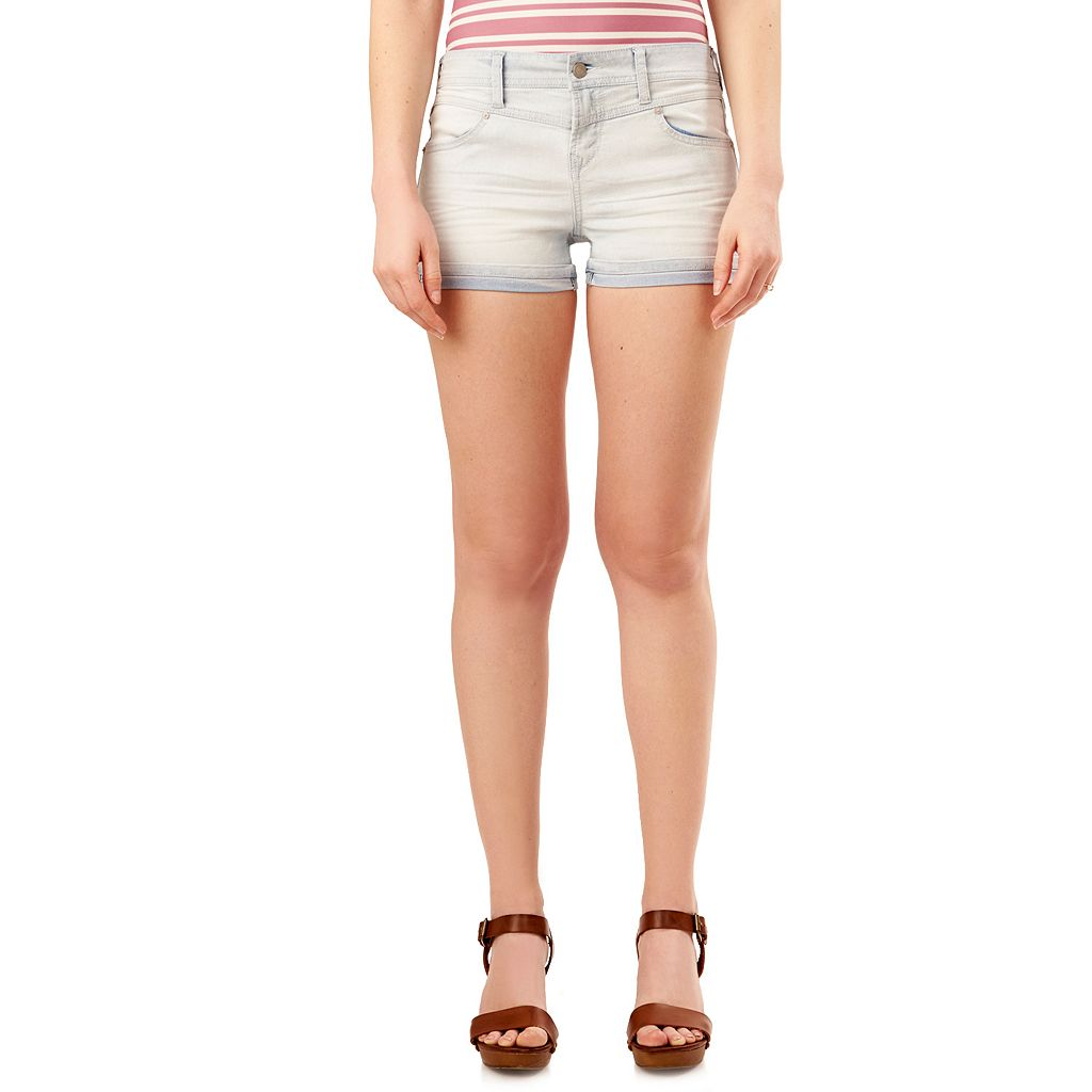 Juniors' Wallflower Legendary Jean Shortie Shorts