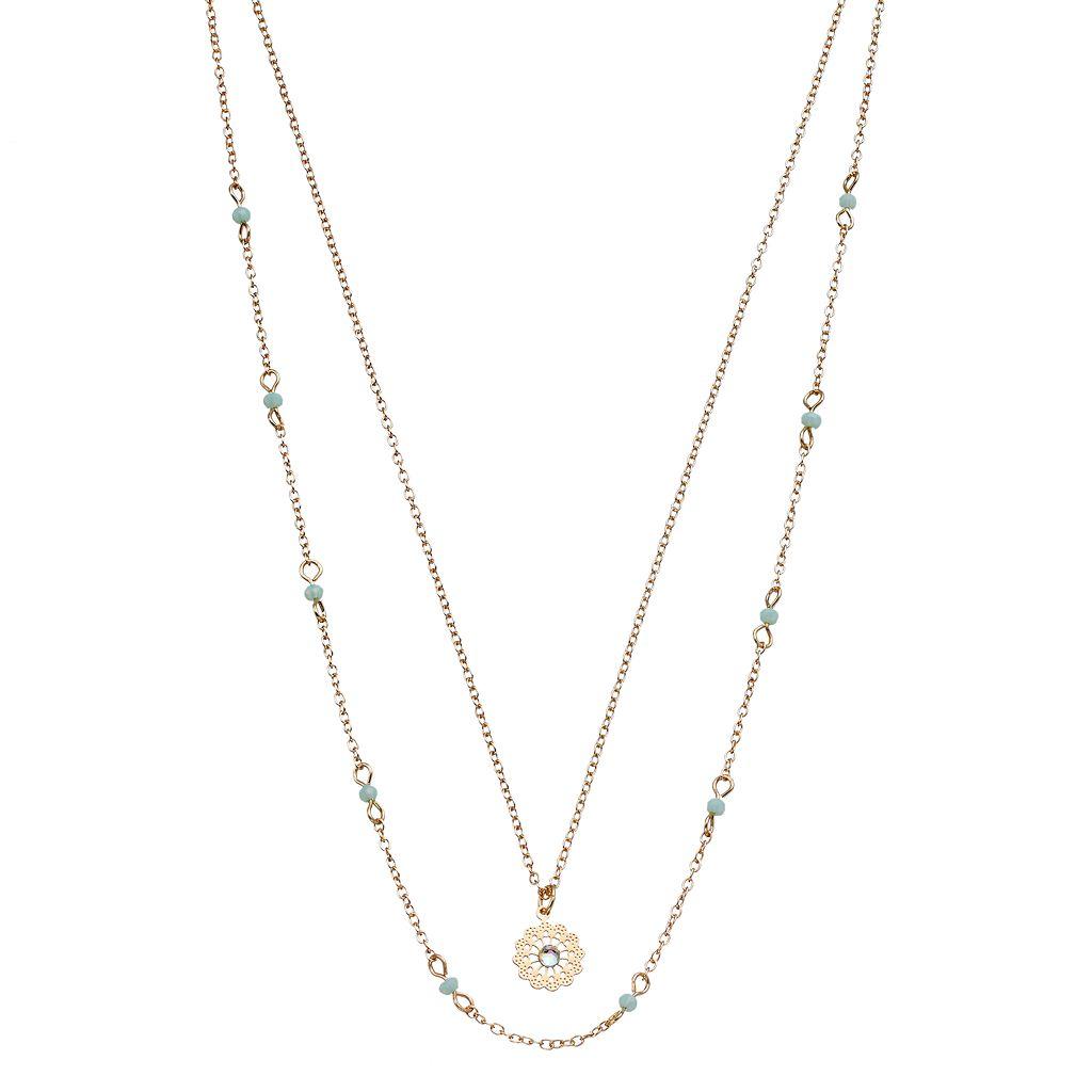LC Lauren Conrad Layered Openwork Starburst Pendant Necklace
