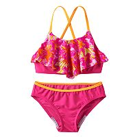 Girls 7-16 Speedo Jungle Floral Ruffle Bikini Swimsuit Set