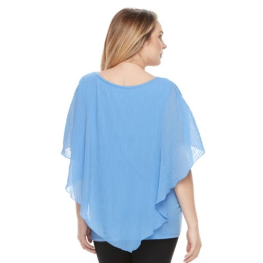 Plus Size AB Studio Popover Necklace Top