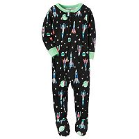 Toddler Boy Carter's Space Footed Pajamas