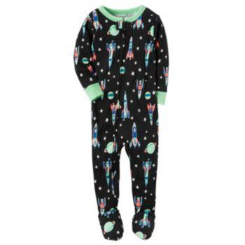 Toddler Boy Carter's Space Footed Pajamas