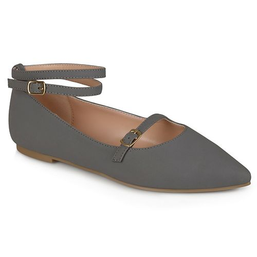 Journee Collection Nilly Women's Ankle Strap Flats