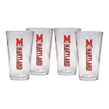 Maryland Terrapins 4-Piece Pint Glass Set